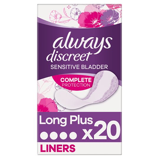 Always Discreet Incontinence Liners Plus 20 Pack