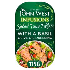 John West Salad Tuna Fillets In Basil 115G