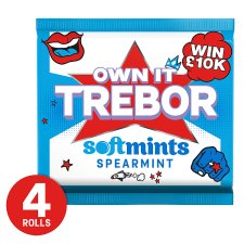 Trebor Softmints Spearmint Mints 4 Pack 179G