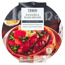 Tesco Bangers & Mash In Yorkshire Pudding 440G