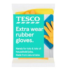 Tesco Extra Wear Rubber 1 Gloves Medium