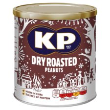 Kp Nuts Dry Roasted Peanuts 375G
