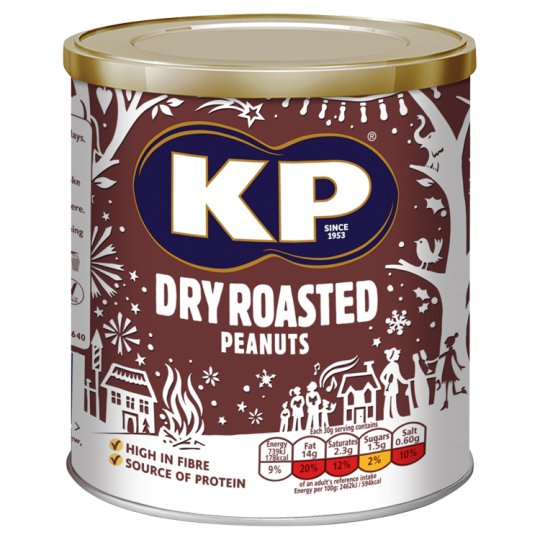 image 1 of Kp Nuts Dry Roasted Peanuts 375G