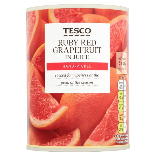 Tesco Ruby Red Grapefruit Segments In Juice 538G