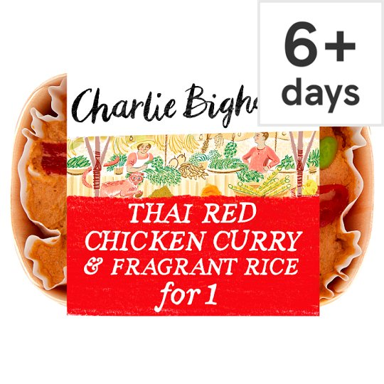 Charlie Bigham's Thai Red Chicken Curry & Rice 418G