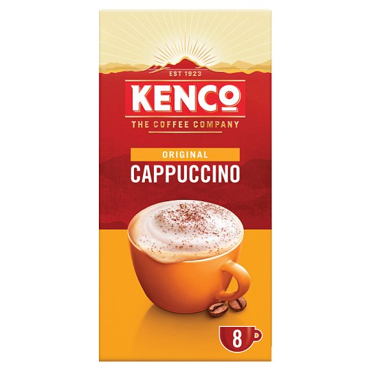 image 1 of Kenco Cappuccino Coffee 8 Sachets 149G