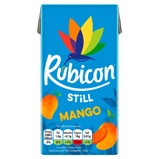 Rubicon Still Mango Juice Drink 288Ml Carton