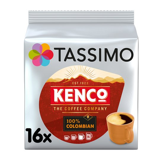 image 1 of Tassimo Kenco 100% Colombian 16 Coffee Pods