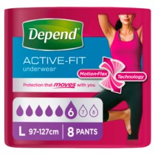 Depend Active Fit Large Incontinence Pants 8 Pack