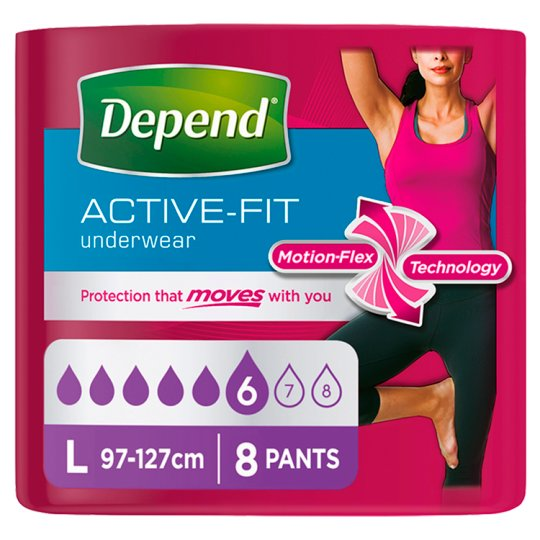 image 1 of Depend Active Fit Large Incontinence Pants 8 Pack