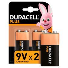 Duracell Plus 9V 2 Pack