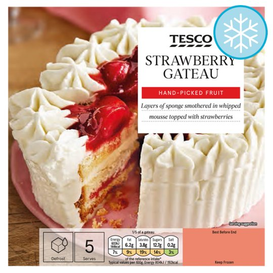 Tesco Strawberry Gateau 375G