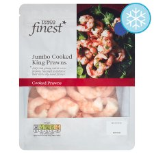 Tesco Finest Jumbo Cooked King Prawns 225G