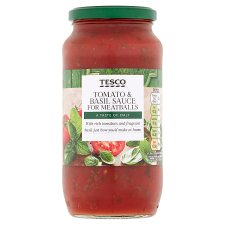 Tesco Tomato And Basil Sauce For Meatballs 500G