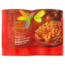 Tesco Healthy Living Reduced Sugar And Salt Baked Beans 4X420g
