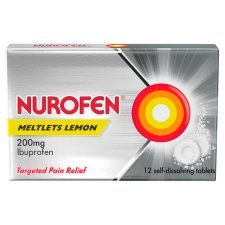 Nurofen Ibuprofen Lemon 200Mg Meltlets 12 Pack