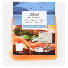 Tesco 6 Smoked Salmon For Sandwiches 100G