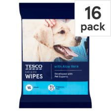 Tesco Ears And Eyes Pet Wipes 16 Wipes