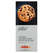 Tesco Finest Chocolate Chunk Shortbread 160G