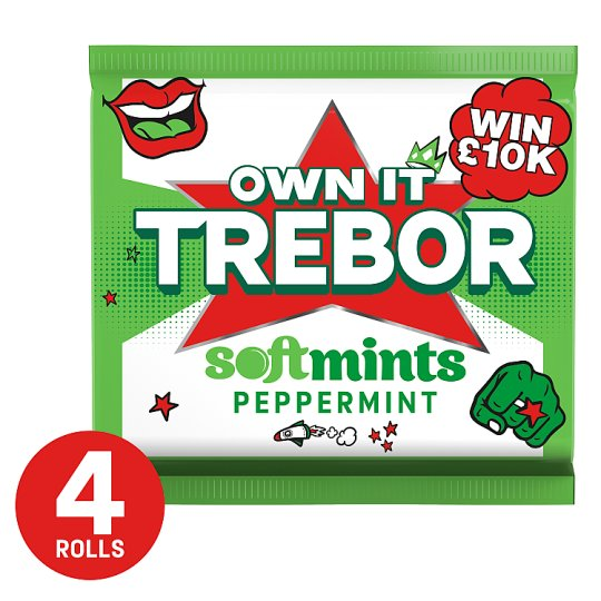 image 1 of Trebor Softmints Peppermint Mints 4 Pack 179G
