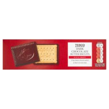 Tesco Dark Chocolate Coated Biscuits 125G