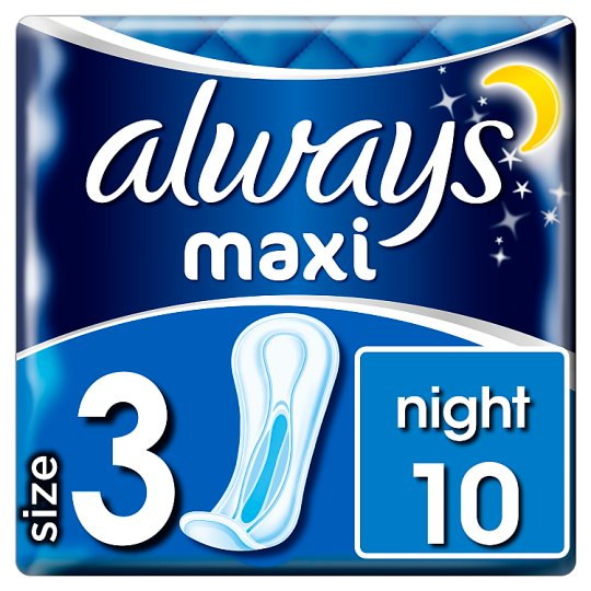 Always Maxi Night Sanitary Towels 10 Pack