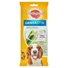 Pedigree Medium Dog Dentastix Fresh Daily 7 Sticks