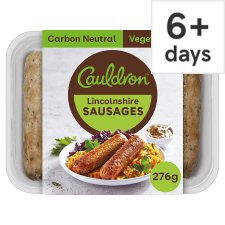 Cauldron Foods Lincolnshire Sausages 6 Pack 276G