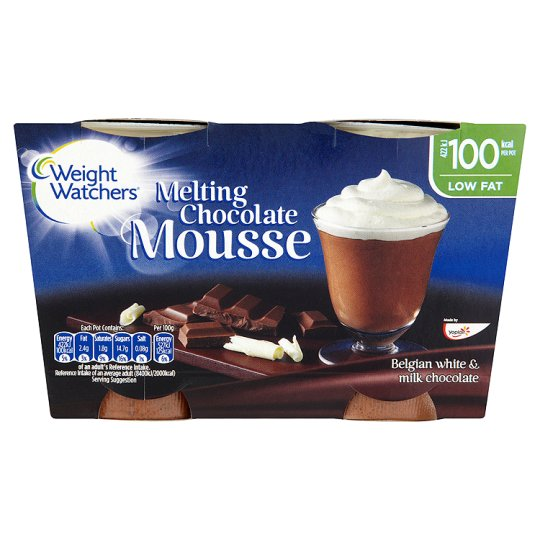 Weight Watchers Chocolate And Vanilla Mousse 2X80g
