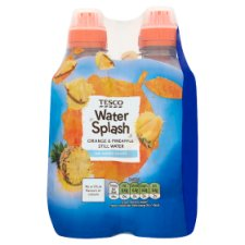 Tesco Still Water Orange And Pineapple No Added Sugar 4 X 300Ml
