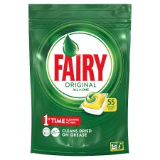 Fairy Original All In One Lemon 55 Dishwasher Tablets 743G