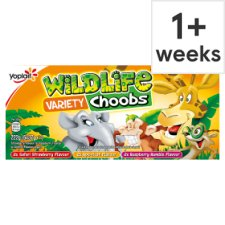 Wildlife Choobs Strawberry Raspberry And Apricot Yogurt 6X37g