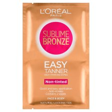 image 1 of L'oreal Sublime Self-Tan Face And Body Wipes 2X5.6Ml