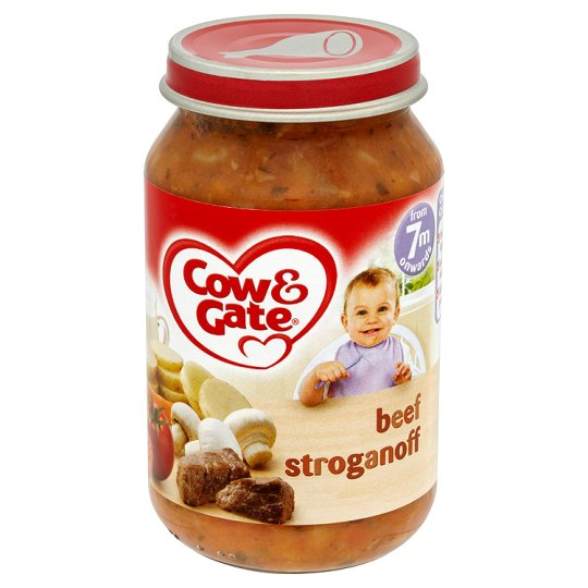 Cow And Gate Beef Stroganoff Jar 200G 7 Mth+