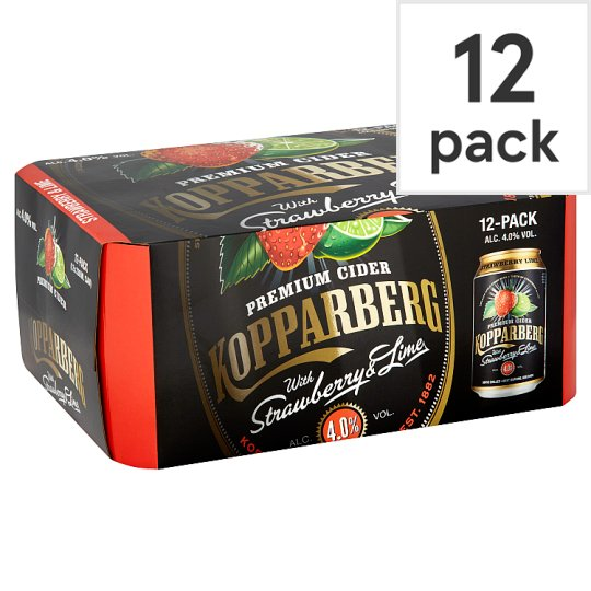 Kopparberg Strawberry And Lime Cider 12X330ml Can