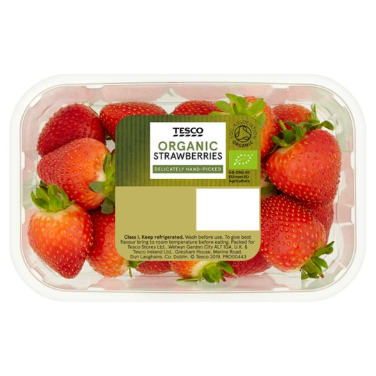 Tesco Organic Strawberries 300G