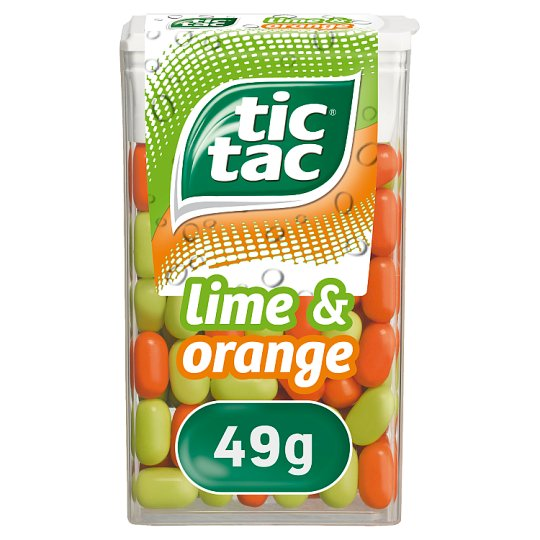 Tic Tac Lime And Orange 49G - Tesco Groceries