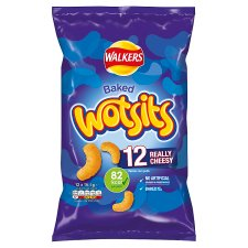Walkers Wotsits Cheese Snacks 12 X 16.5 G