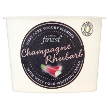 Tesco Finest Champagne Rhubarb Yogurt 150G