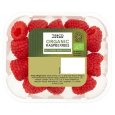 Tesco Organic Raspberries 125G