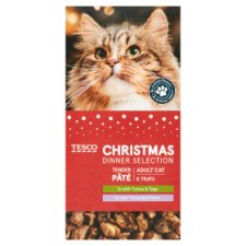 Tesco Christmas Dinner Selection For Cats 6X100g