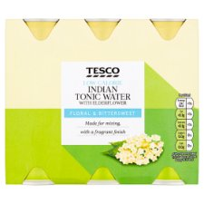 Tesco Low Calorie Tonic With Elderflower 6X250ml