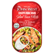 John West Salad Tuna Fillets Chilli And Garlic 115G