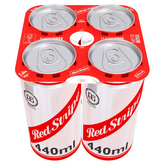 Red Stripe Can 4X440ml