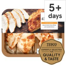 Tesco 4 Roast Cooked Chicken Breast Fillets 485G