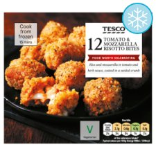 Tesco 12 Tomato And Mozzarella Bites 216G