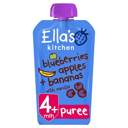 Ella's Kitchen Blueberry Apples Banana And Vanilla 120G