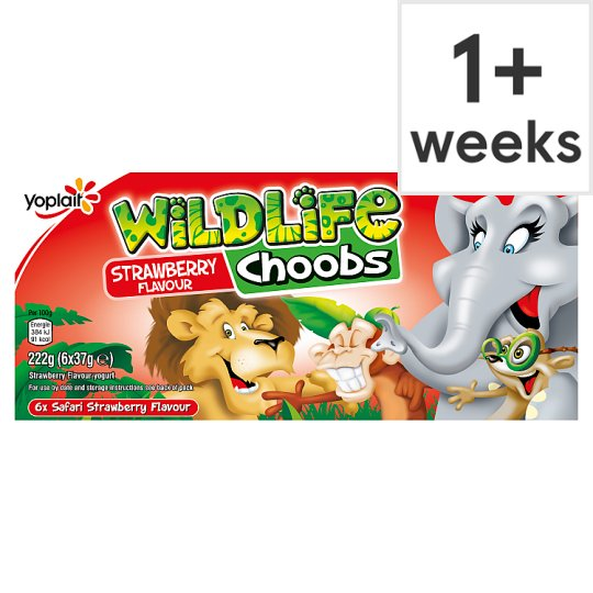 Wildlife Choobs Strawberry Yogurts 6X37g