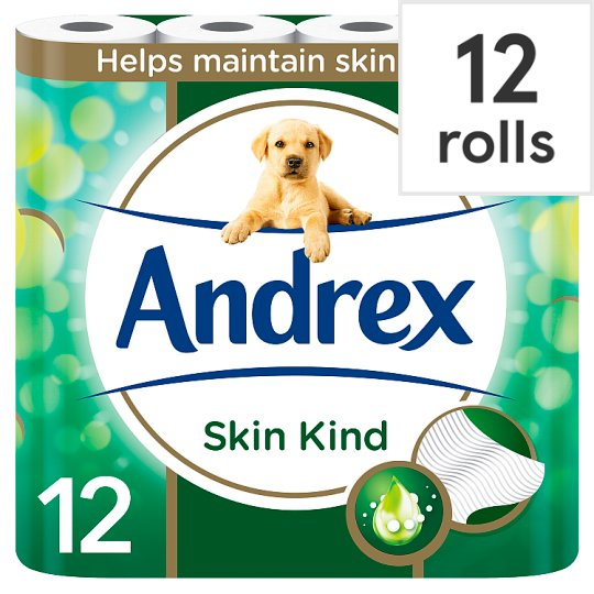 andrex toilet tissue 12 roll aloe vera tesco groceries. Black Bedroom Furniture Sets. Home Design Ideas