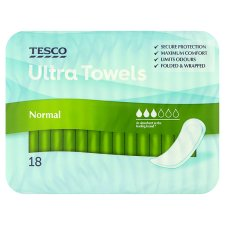 Tesco Ultra Regular Non Wing Sanitary Towels 18 Pack